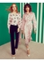 Alina pink falling leaves silk shirt dress - Lisou