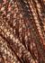 Katz pleated houndstooth-devoré maxi skirt - Alice + Olivia
