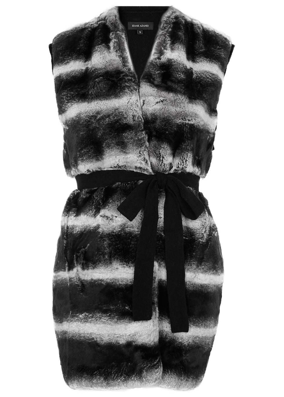Fur and wool-blend gilet