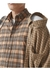 Contrast check cotton flannel reconstructed shirt - Burberry