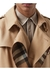 Wool silk and house check loop-back trench coat - Burberry