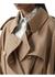 Basque detail technical wool gabardine trench coat - Burberry