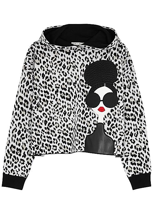 Oscar leopard-intarsia stretch-wool sweatshirt - Alice + Olivia