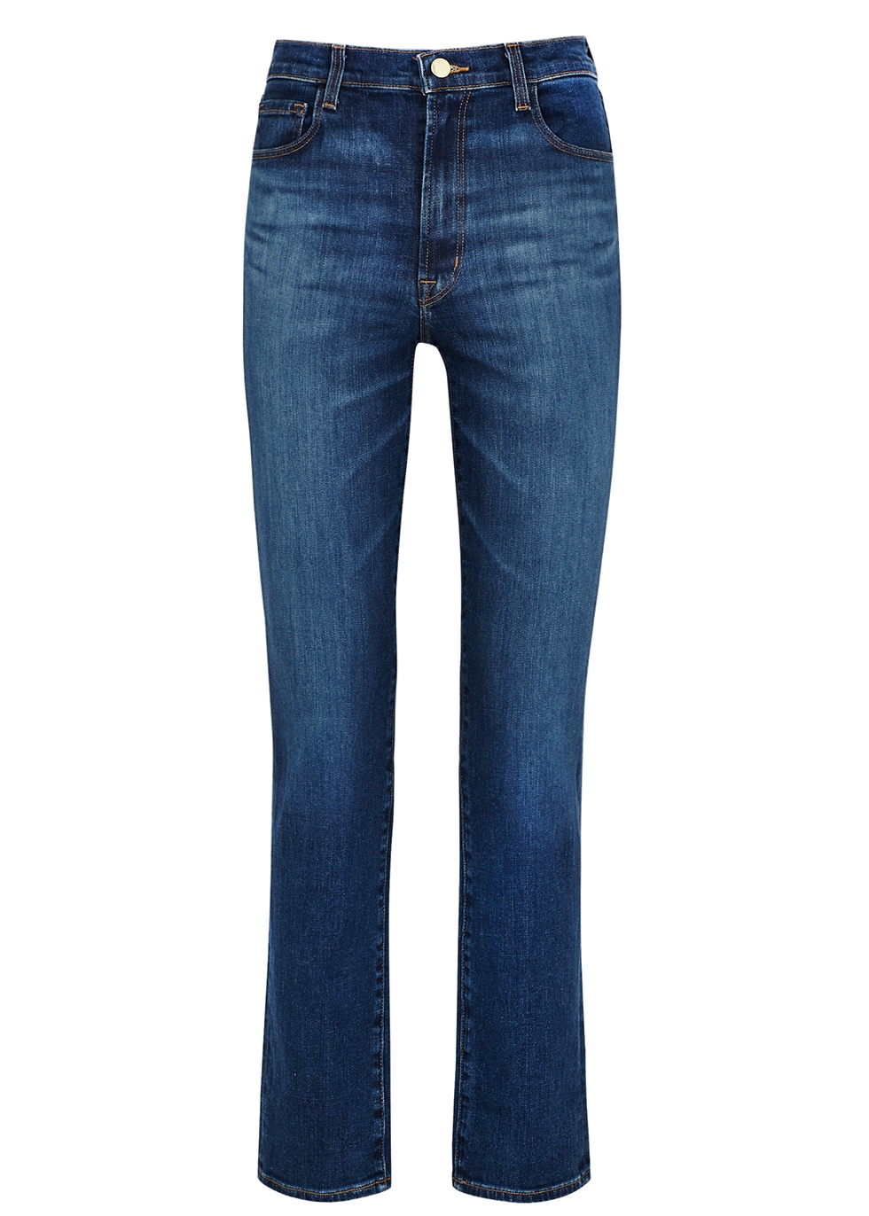 Tegan blue straight-leg jeans