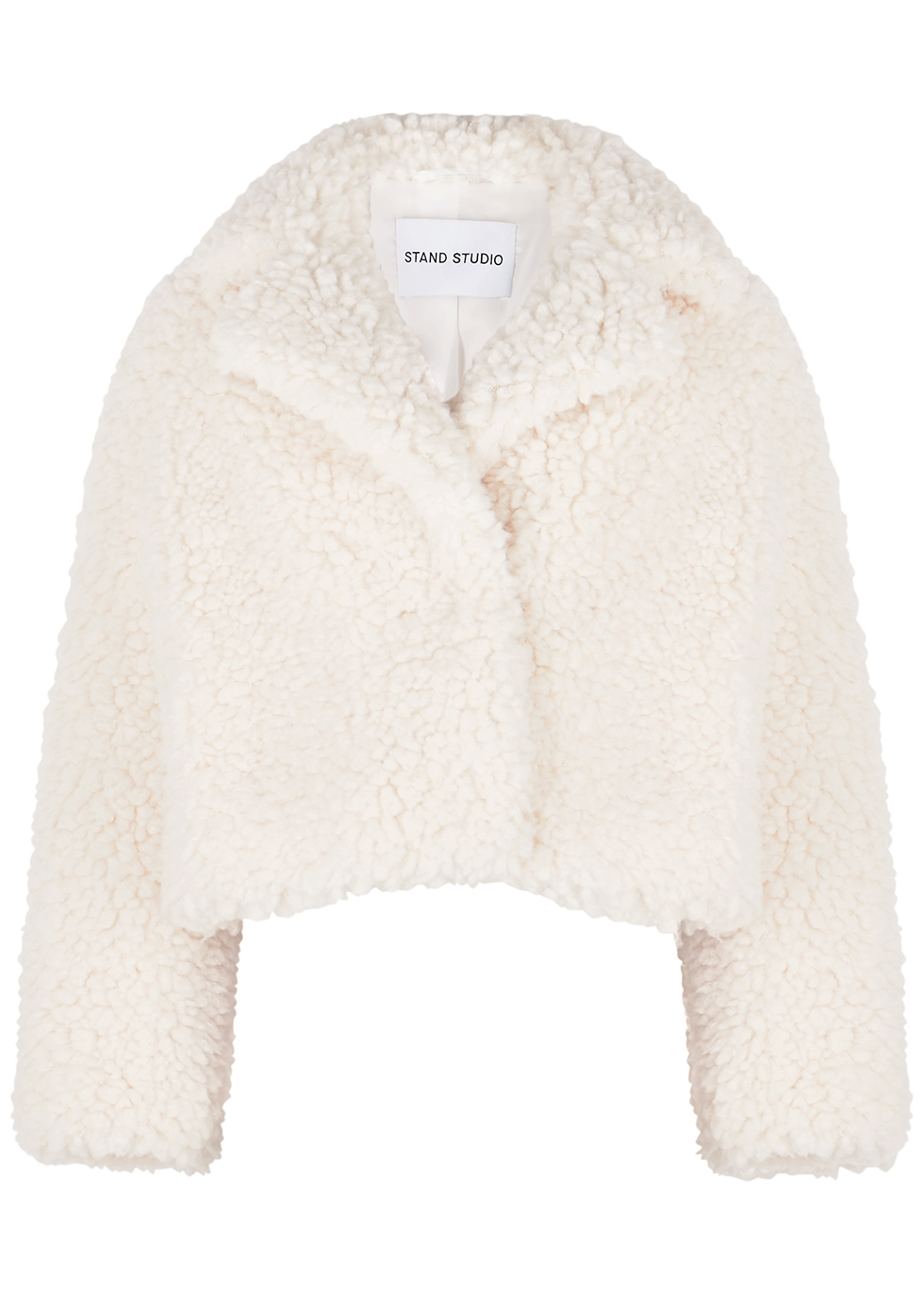 Janet off-white cropped faux shearling jacket