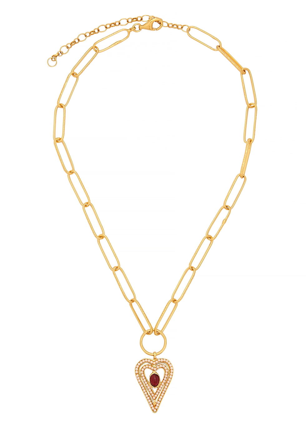 Amore 18kt gold-plated necklace