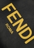 Black striped nylon backpack - Fendi