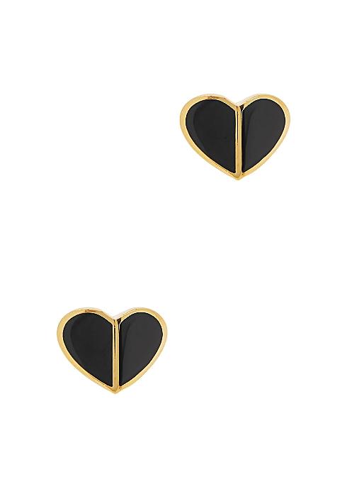Heritage Spade gold-plated stud earrings - Kate Spade New York