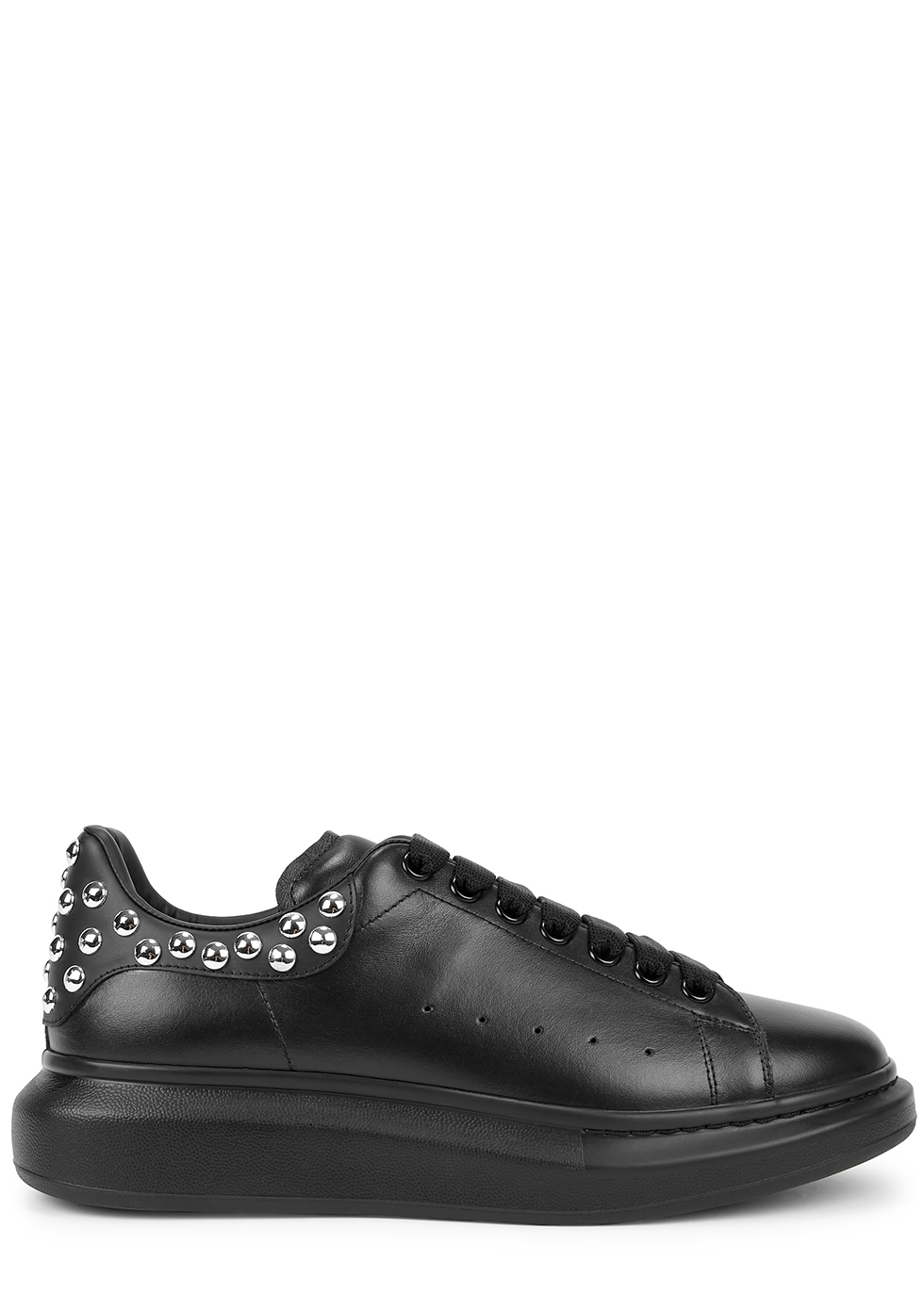 Larry black studded leather sneakers