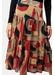Cord tiered midi skirt in rust print - Traffic People