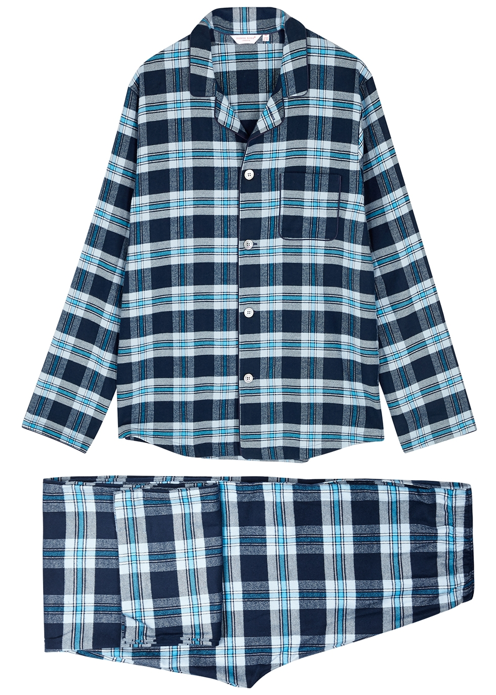 Kelburn checked brushed cotton pyjama set