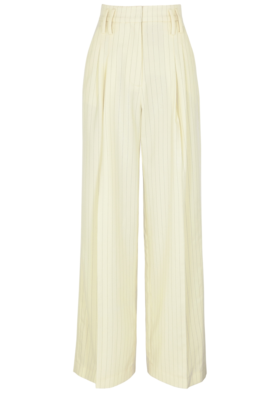 Maxime pinstriped wide-leg trousers
