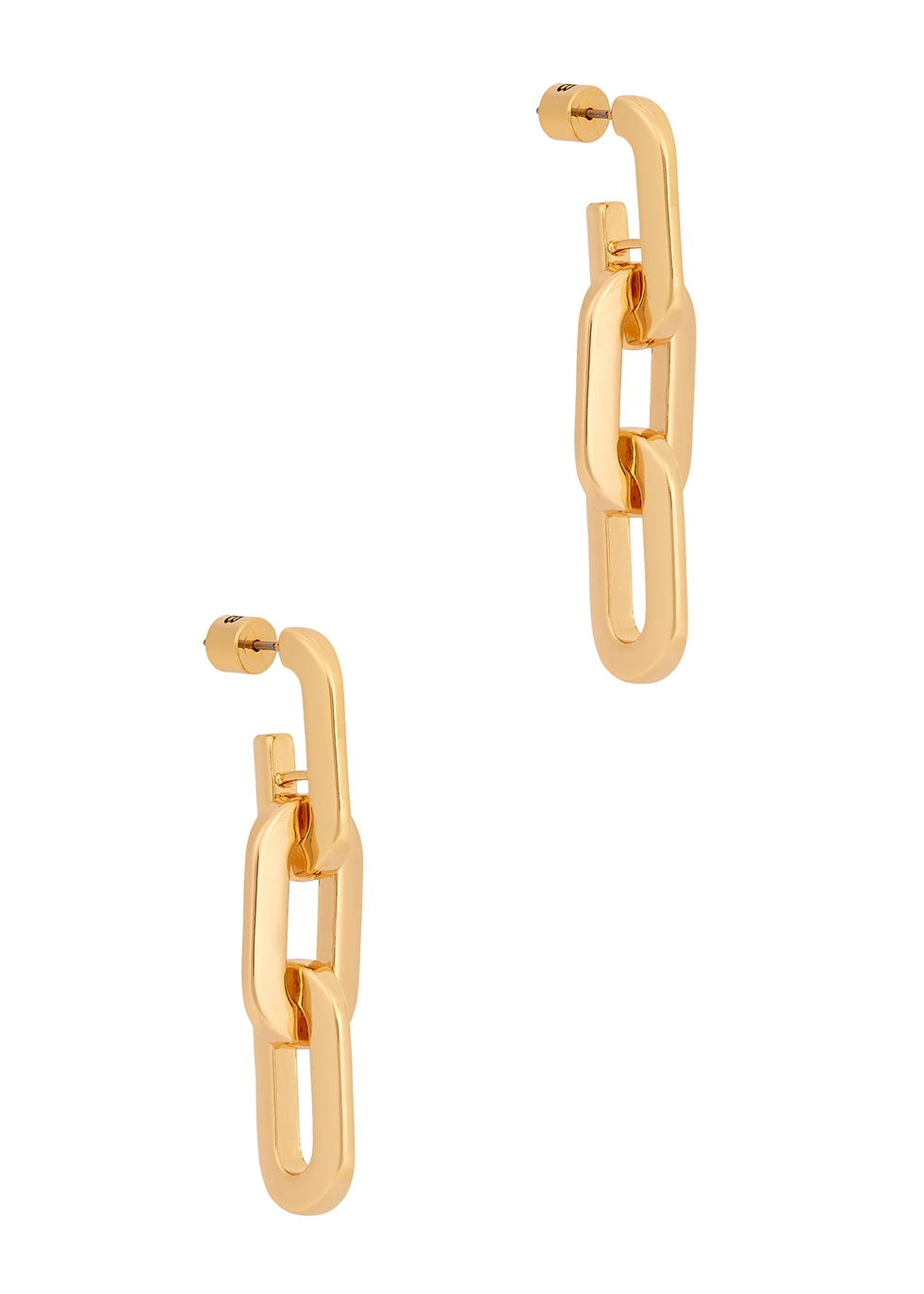 Toni Link 14kt gold-dipped drop earrings
