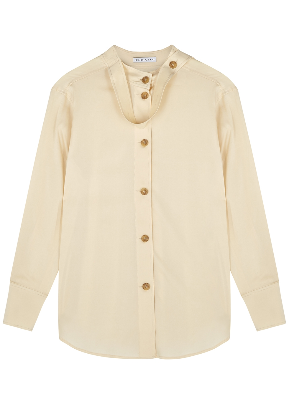 Cassidy cream silk shirt
