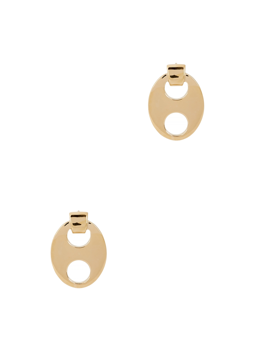 Eight gold-tone stud earrings