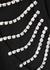 Black crystal-embellished cotton T-shirt - Christopher Kane