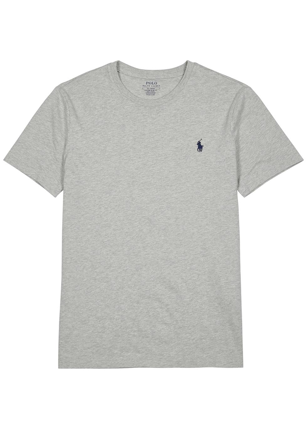 Grey mélange cotton T-shirt