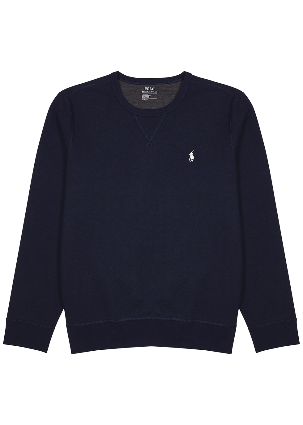 Performance navy jersey sweatshirt