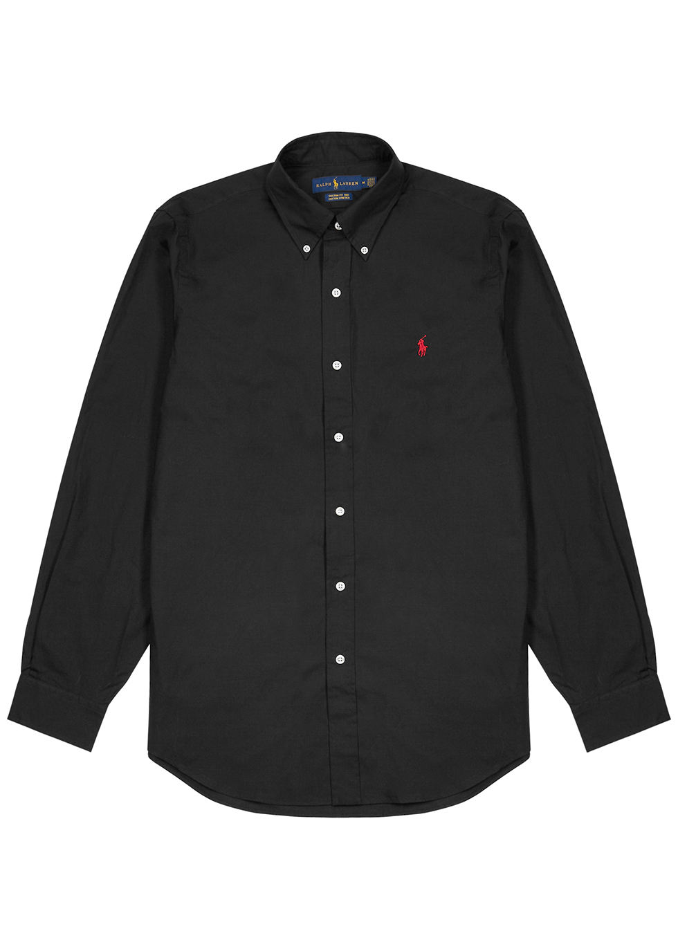 Black cotton-poplin shirt