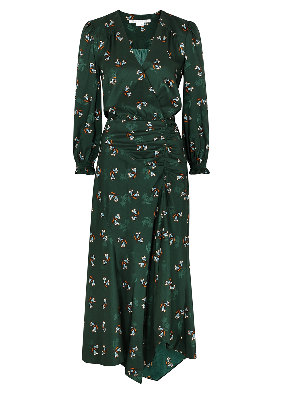 Yasmeen floral-print satin midi dress