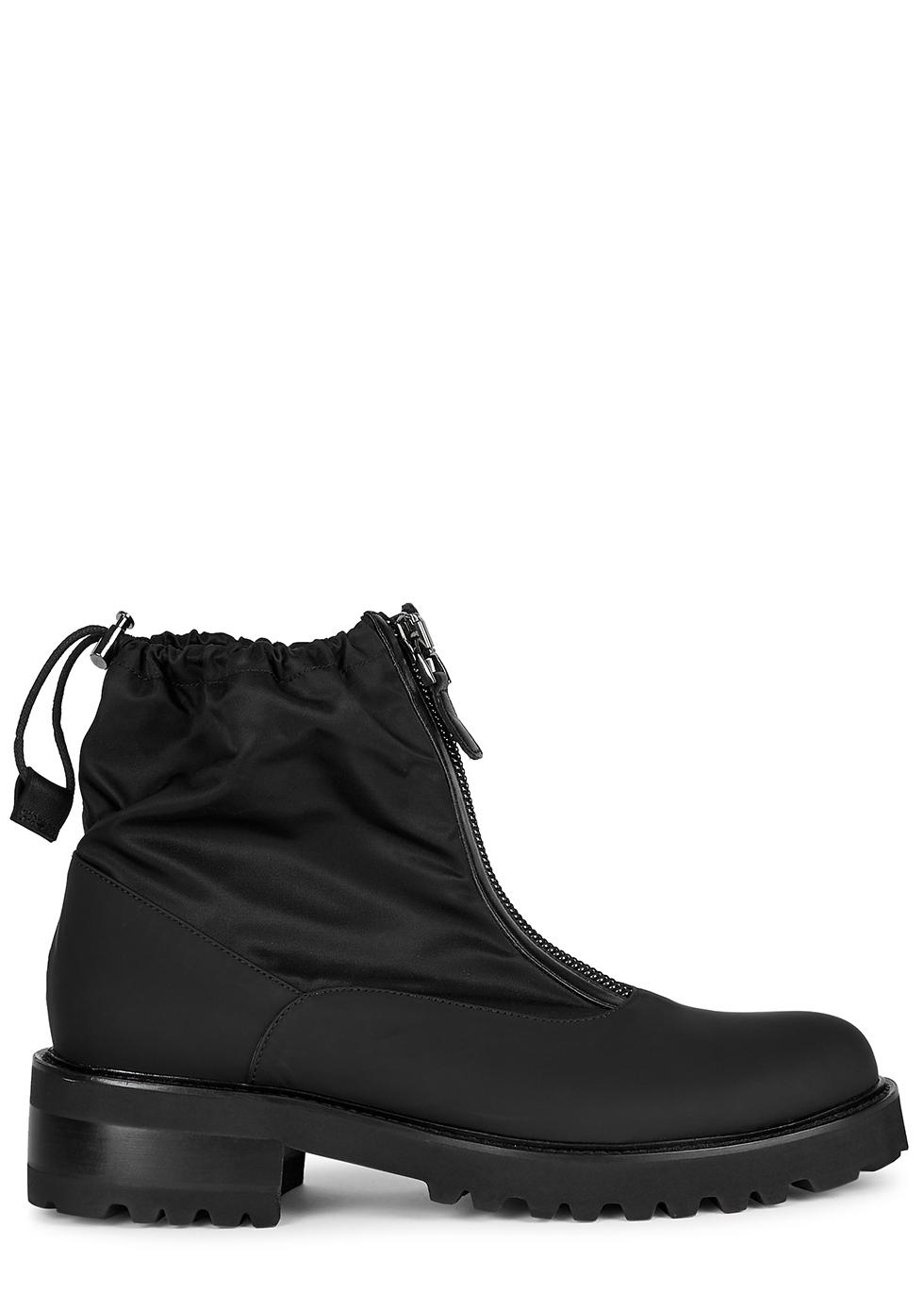 Tatum 50 black rubberised ankle boots