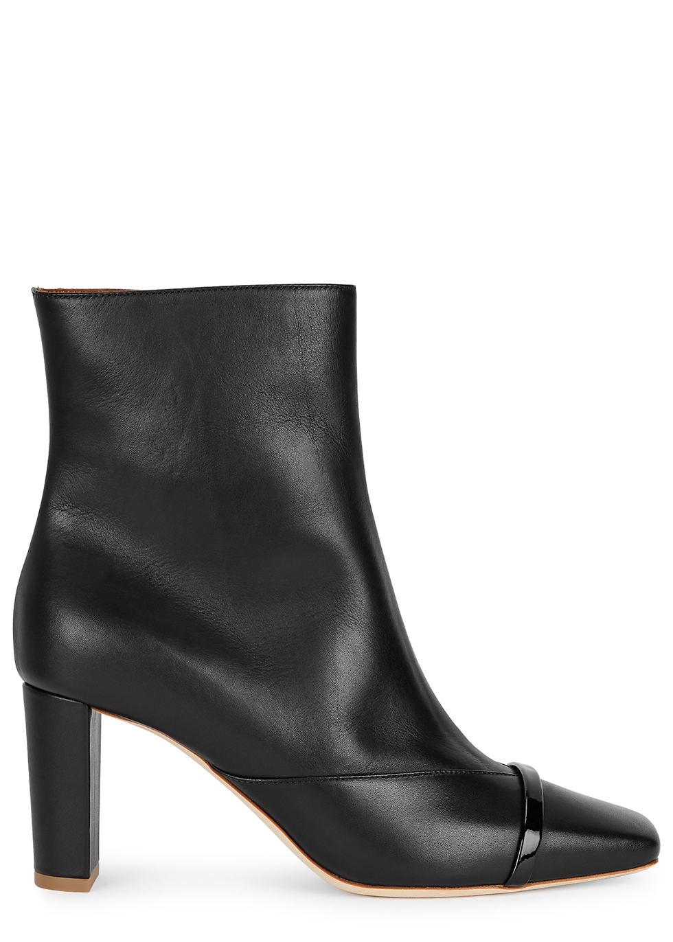 Lori 70 black leather ankle boots