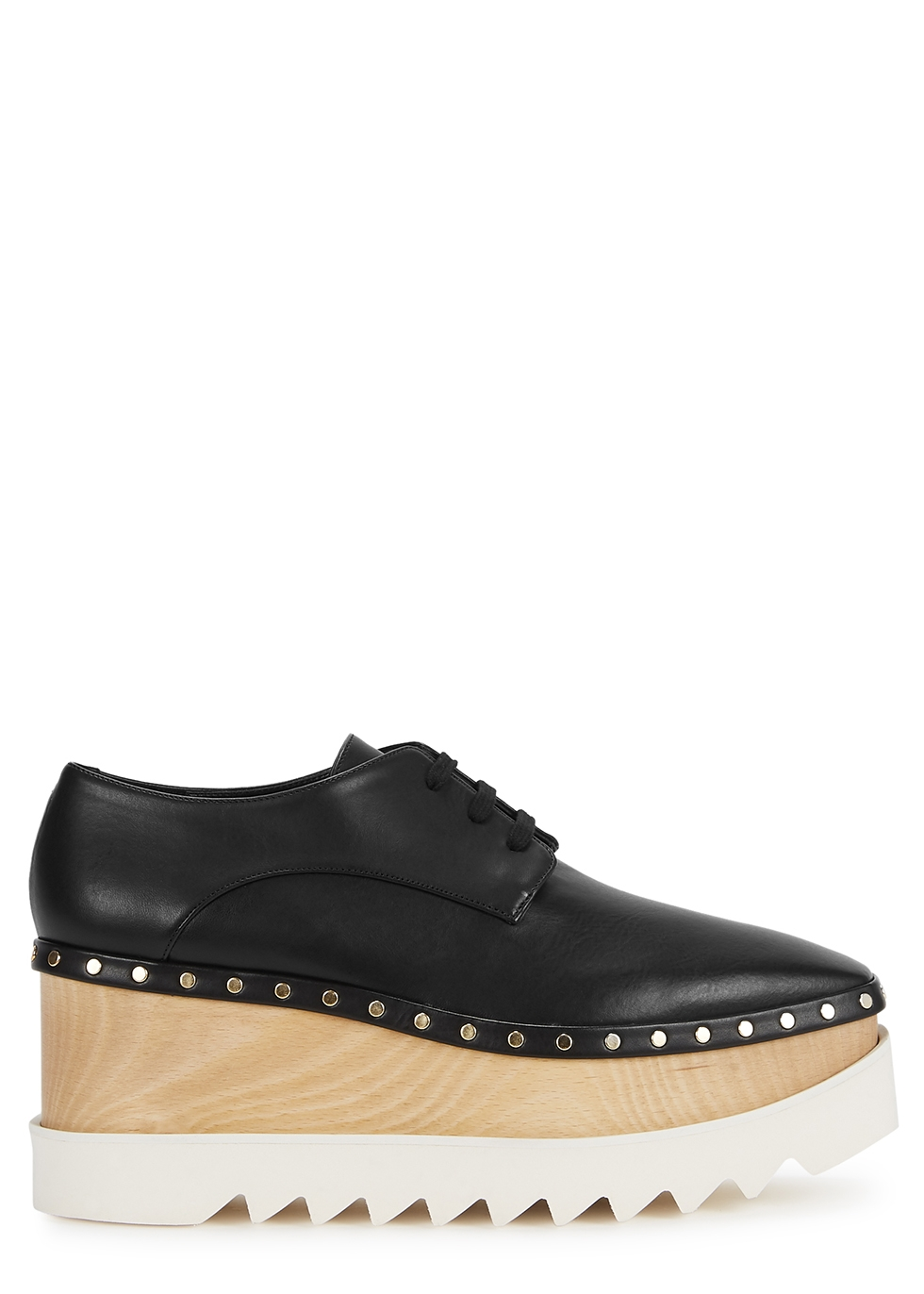 Elyse 80 black faux leather Derby shoes