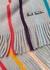 Grey striped wool scarf - Paul Smith
