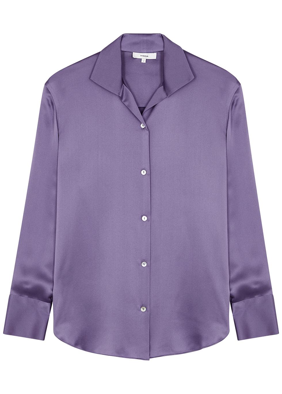 Lilac silk shirt