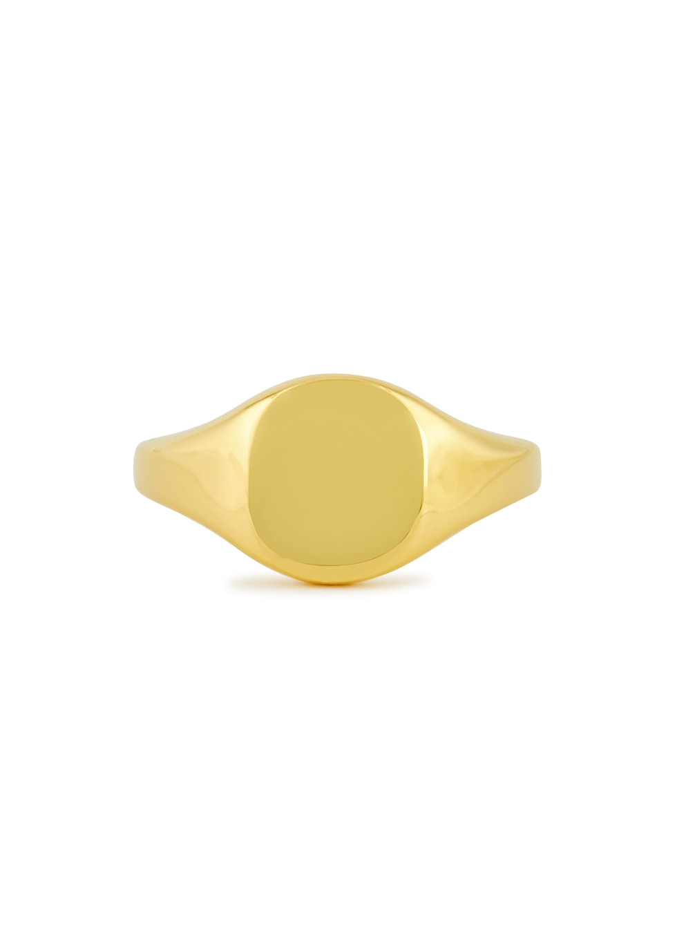 Baby Eddie 18kt gold-plated signet ring