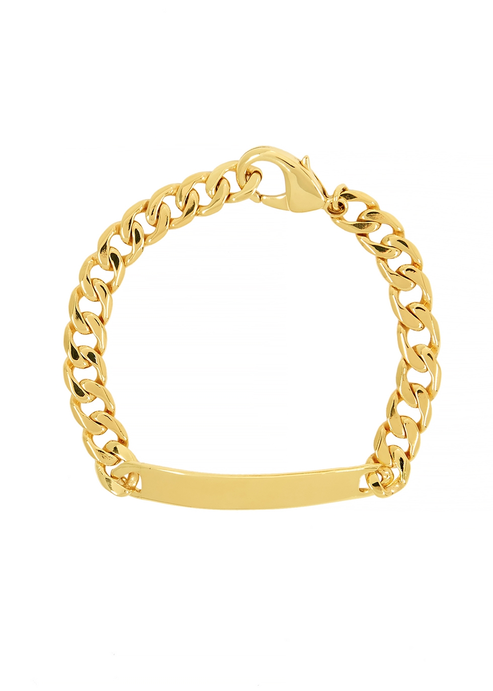 ID 18kt gold-plated chain bracelet