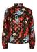 Floral printed long sleeve choir blouse in black - Traffic People