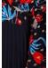 Caution long sleeve midi dress in black floral print - Traffic People