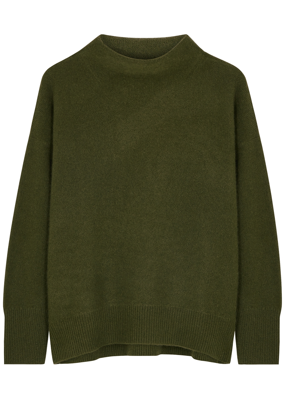Army green cashmere jumper
