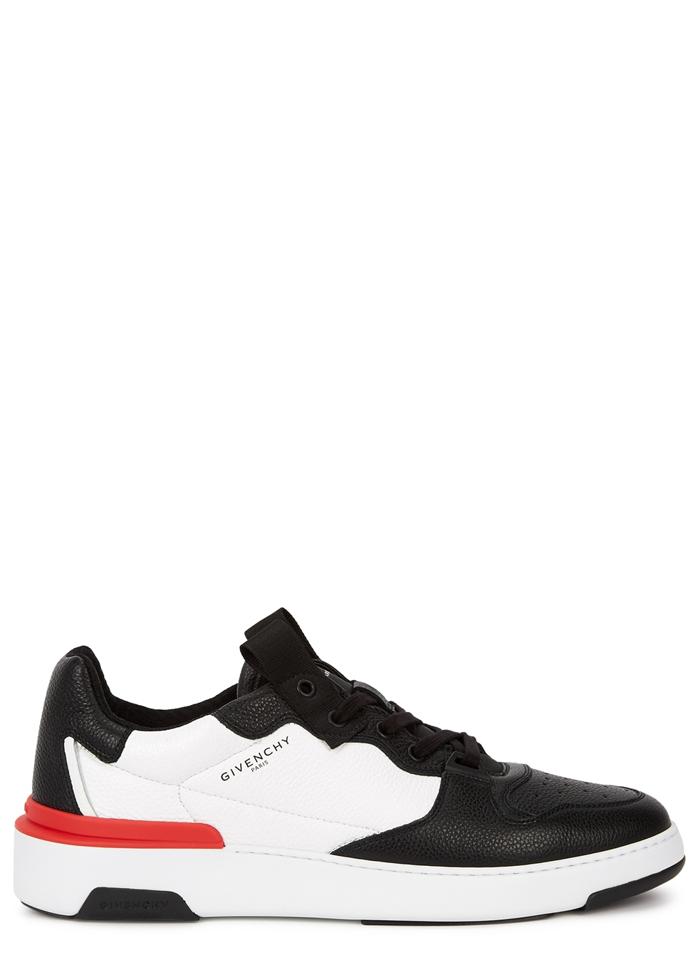 Wing monochrome leather sneakers