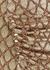 Gold jacquard lamé midi skirt - Paco Rabanne