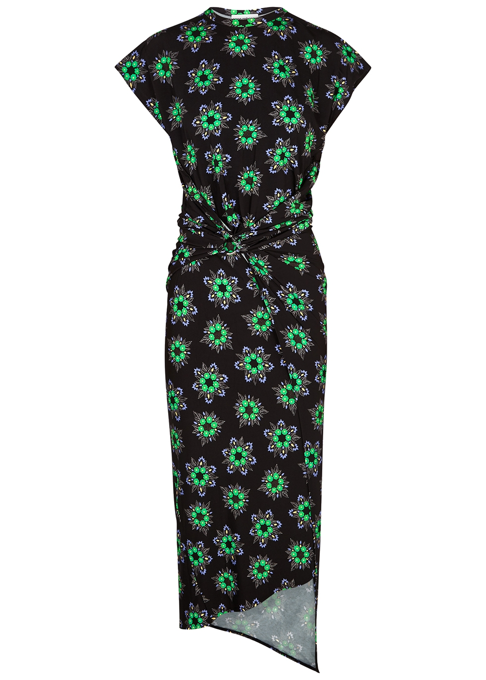 Floral-print stretch-jersey midi dress