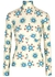 Floral-print stretch-jersey top - Paco Rabanne