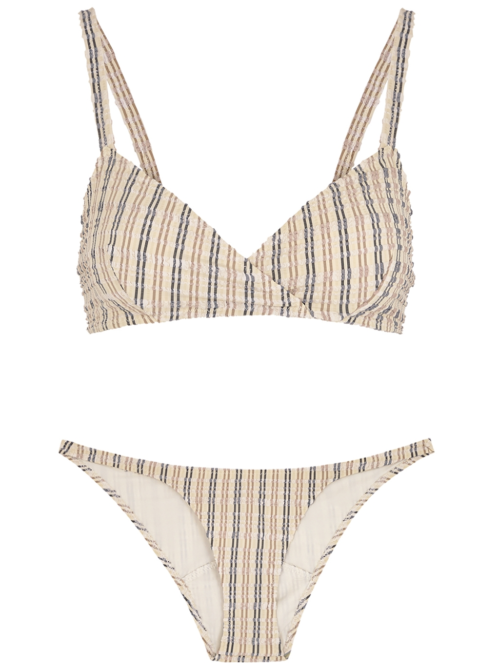 Yasmin striped seersucker bikini