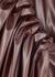 Ada bordeaux faux leather maxi skirt - Roksanda
