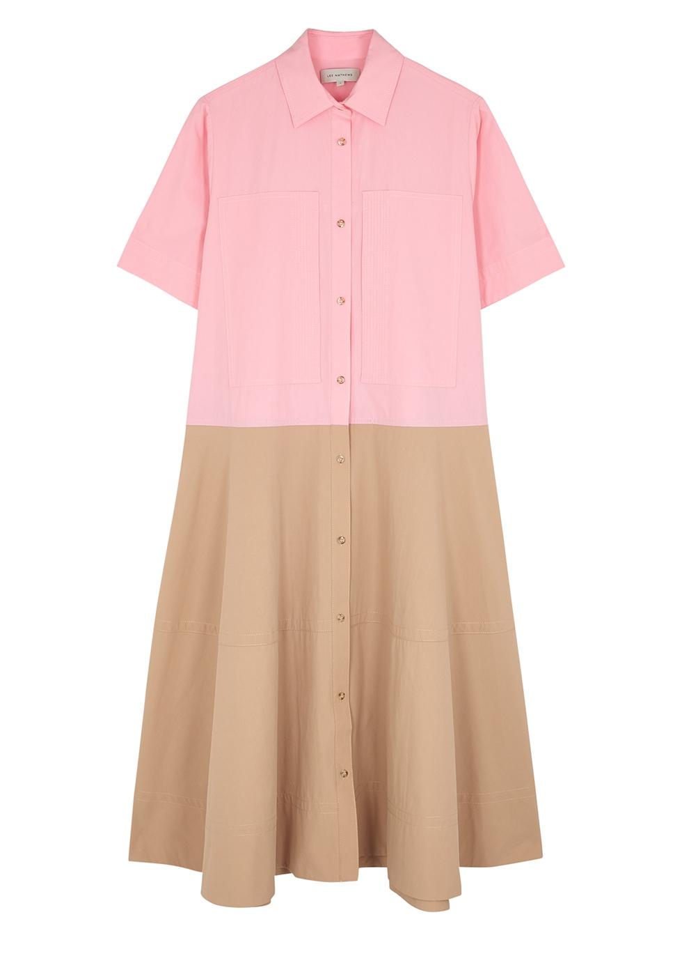 May panelled cotton-poplin shirt dress
