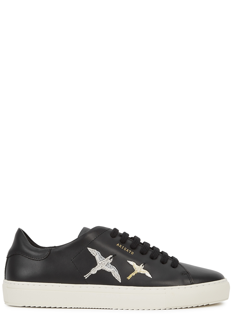 Clean 90 black embroidered leather sneakers