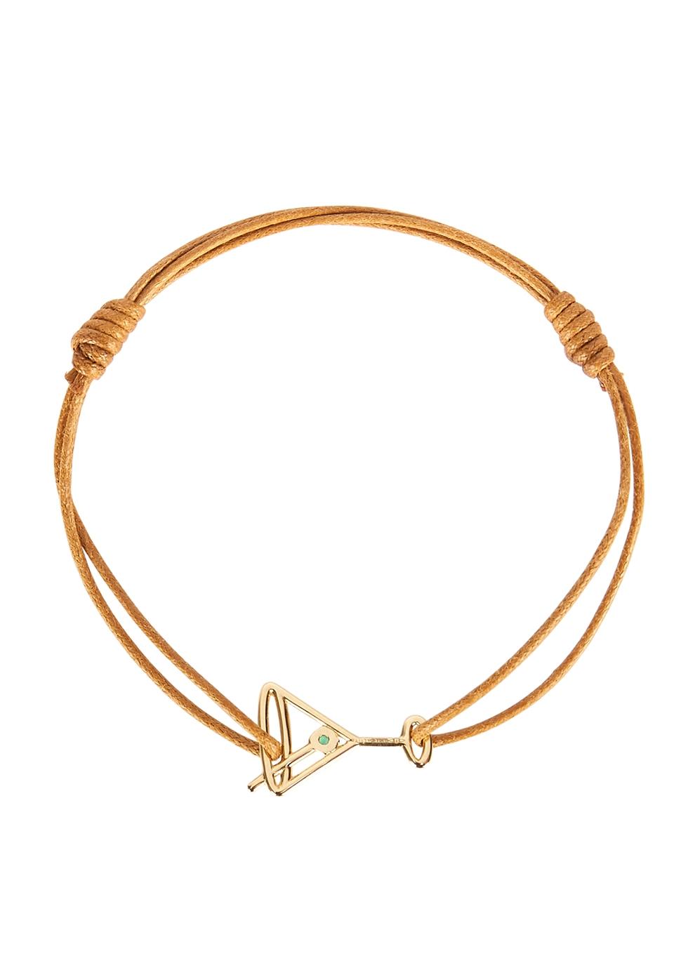Martini Esmeralda brown cord bracelet
