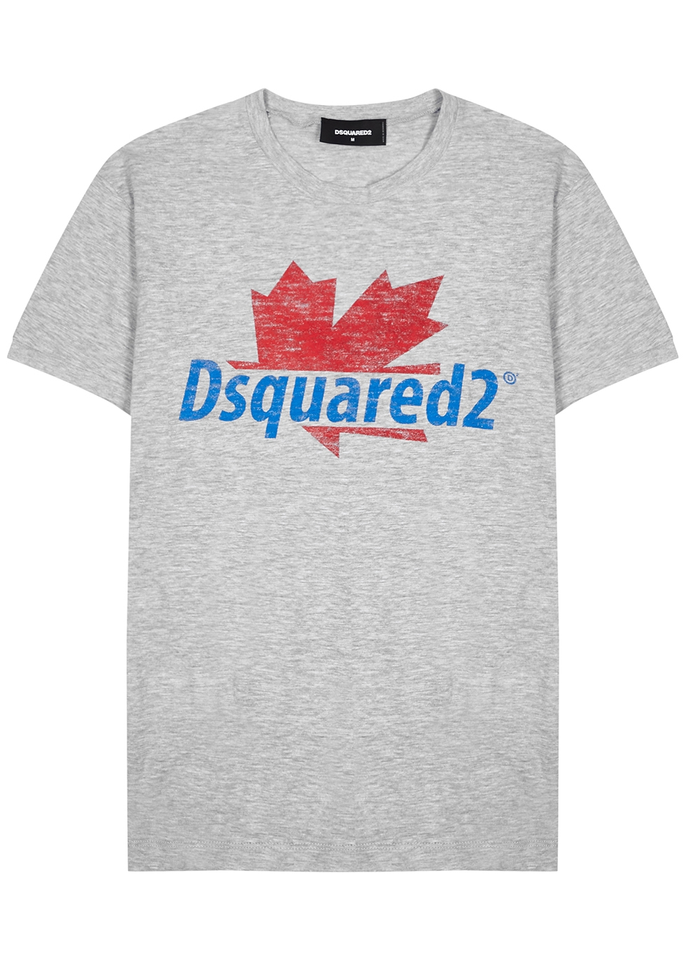 Grey logo-print jersey T-shirt