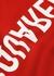 Red logo-print cotton sweatshirt - Dsquared2