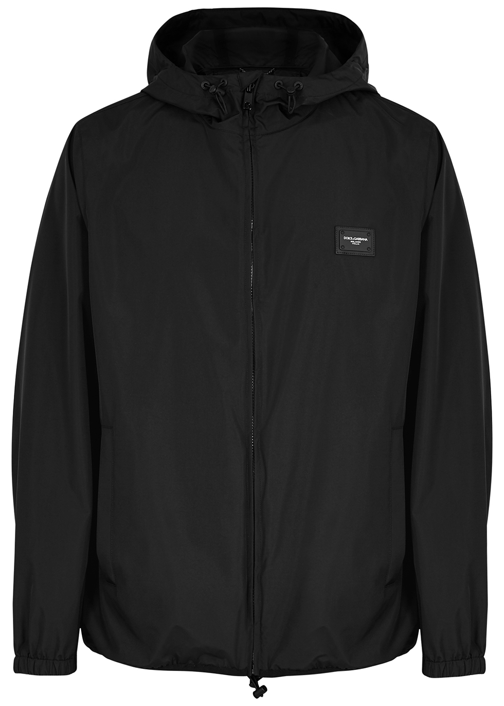 Black logo shell jacket