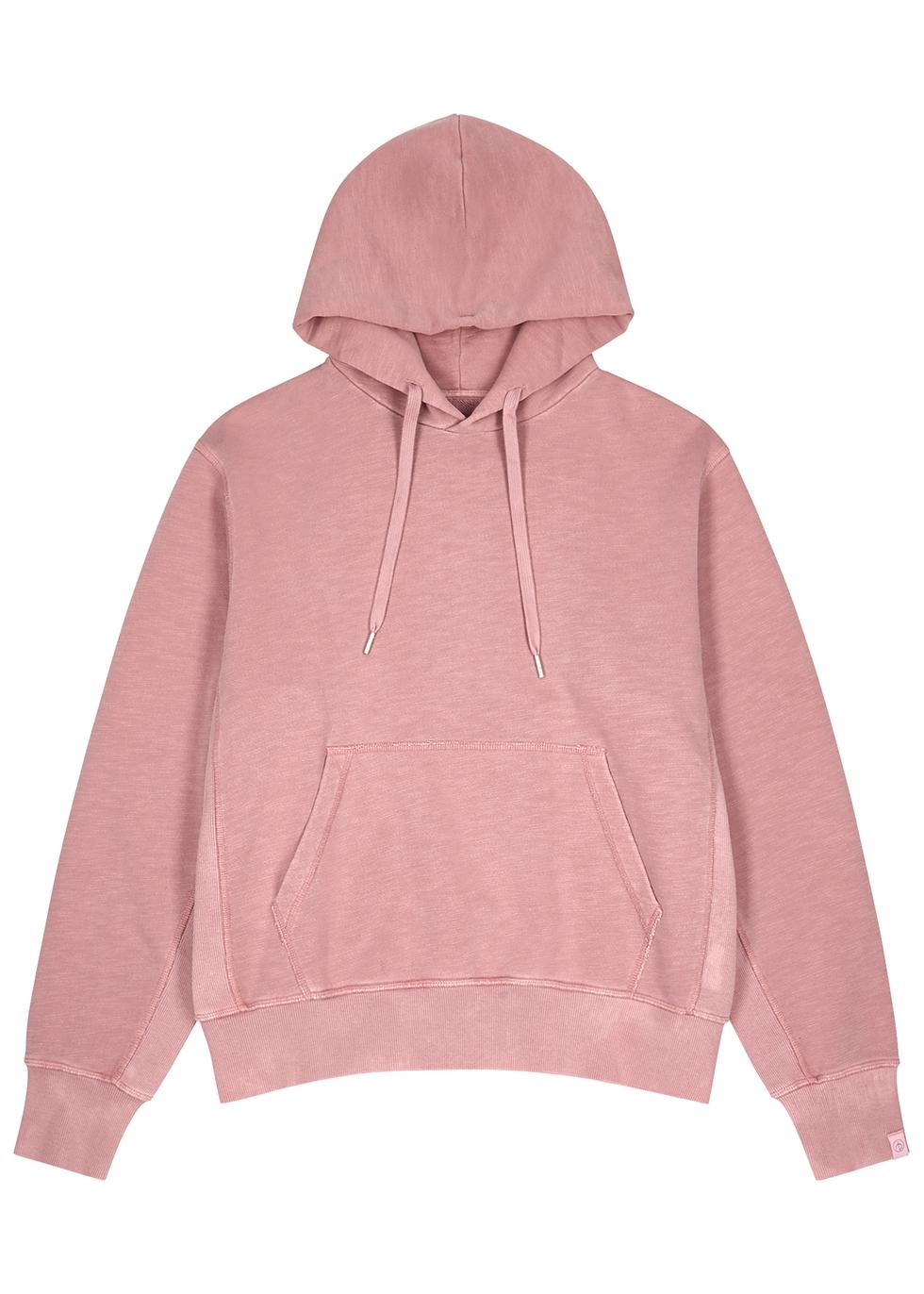 Damon pink hooded cotton sweatshirt