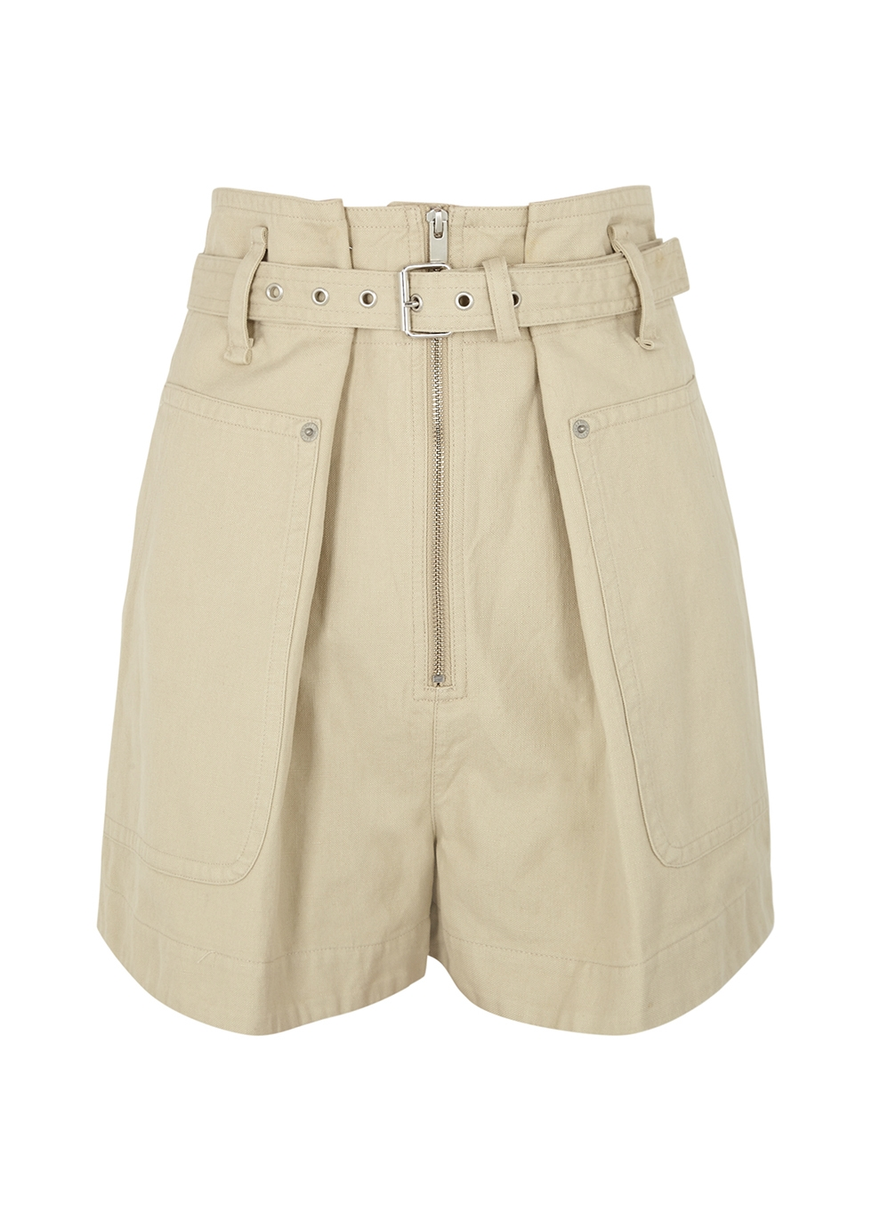 Isabel Marant Étoile PARANA ECRU COTTON-BLEND SHORTS