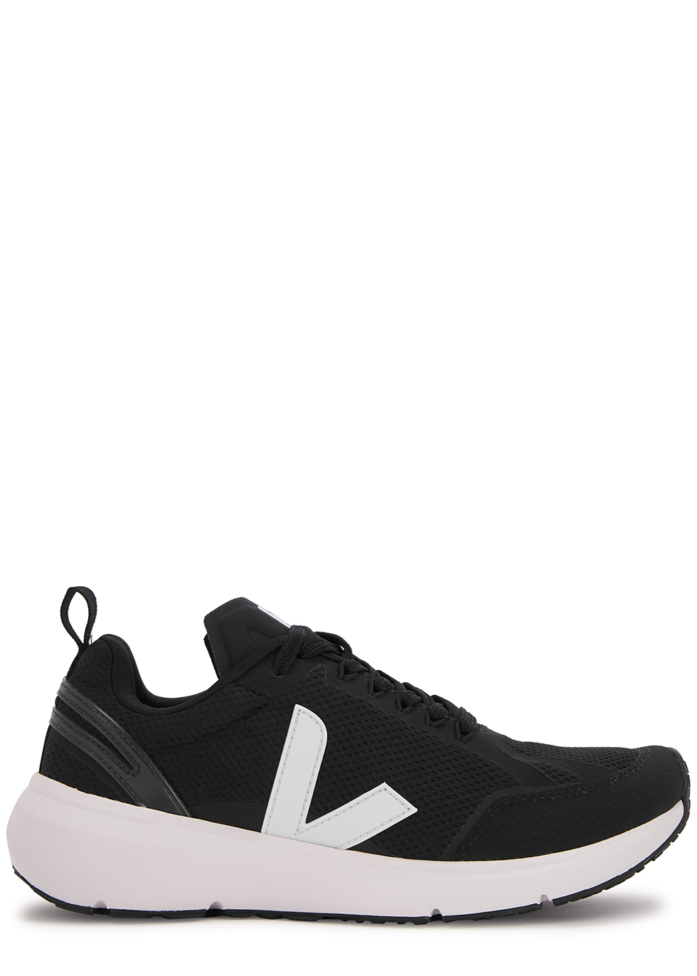 Condor black stretch-knit sneakers