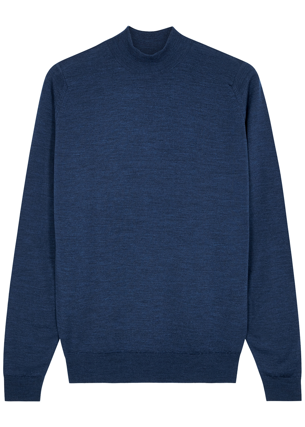 Harcourt blue wool jumper